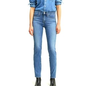 Levis Shaping Straight Jeans Mid Rise Western